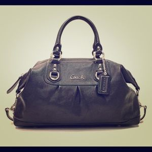 Coach original Black Large Convertible Satchel Bag